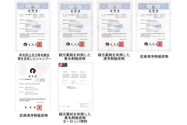 韓方抽出物を利用した初の特許取得